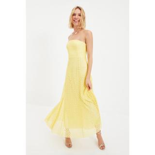 Trendyol Yellow Handkerchief Detailed Evening Dress & Graduation Dress dámské Other 40