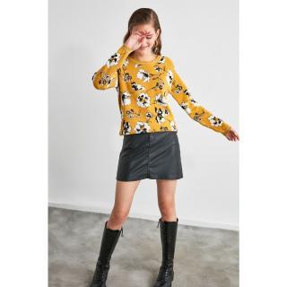 Trendyol Yellow Jacquin Knitwear Sweater dámské S