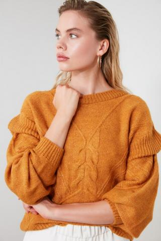 Trendyol Yellow Shoulder Detailed Knitwear Sweater dámské M