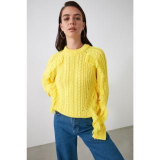Trendyol Yellow Tassel Knitwear Sweater dámské S