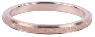 Troli Bronzový ocelový třpytivý prsten 57 mm dámské