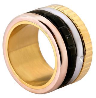 Troli Čtyřbarevný ocelový prsten 50 mm dámské