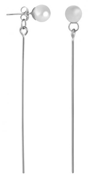 Troli Dlouhé ocelové náušnice s perličkami dámské