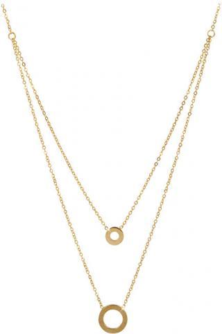 Troli Dvojitý pozlacený náhrdelník