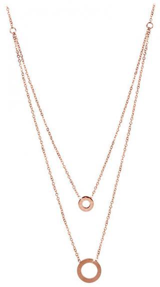 Troli Dvojitý růžově pozlacený náhrdelník