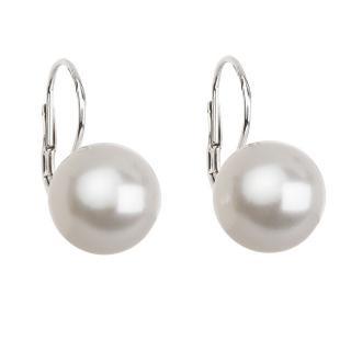 Troli Elegantní perlové náušnice s klapkou Pearl White 71106.1 71107.1 1 cm dámské