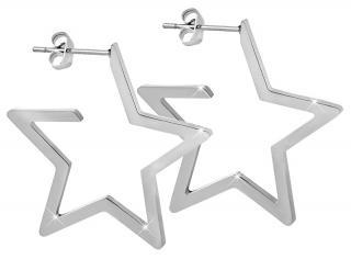 Troli Hvězdné ocelové náušnice dámské