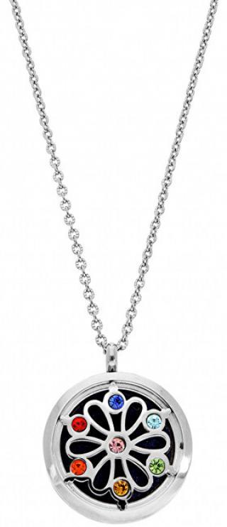Troli Multifunkční ocelový náhrdelník s krystaly a vyměnitelným středem DIFCOL04