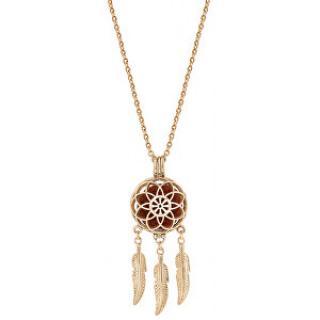 Troli Multifunkční pozlacený náhrdelník Lapač snů s vyměnitelným středem 132462J
