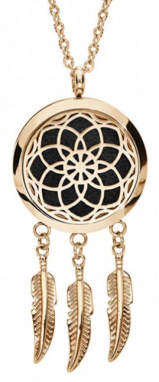 Troli Multifunkční pozlacený náhrdelník Lapač snů s vyměnitelným středem 132471J