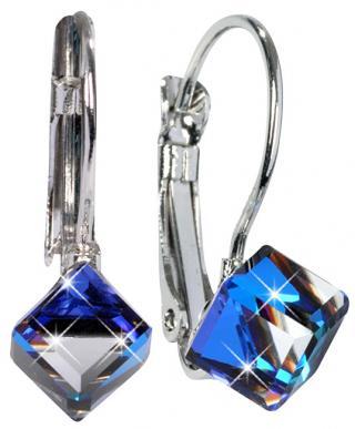 Troli Náušnice Cube Bermuda Blue