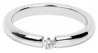 Troli Něžný ocelový prsten s krystalem 49 mm