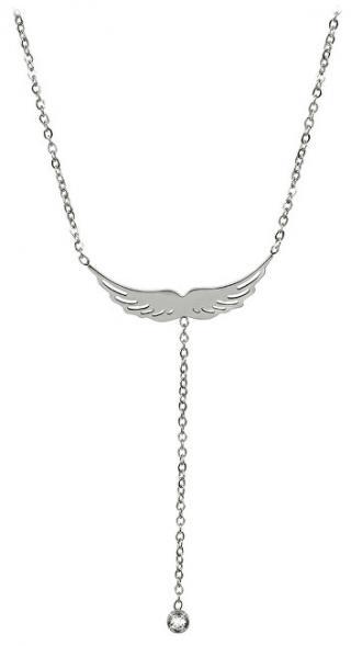 Troli Ocelový náhrdelník andělské křídlo