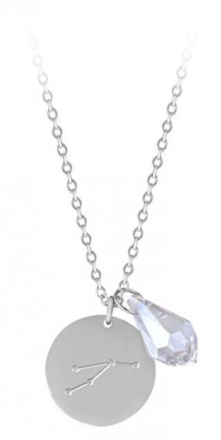 Troli Ocelový náhrdelník Beran se zirkonem