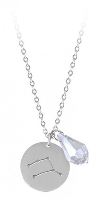 Troli Ocelový náhrdelník Kozoroh se zirkonem