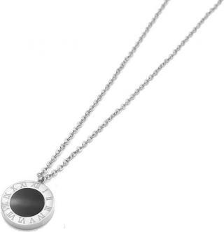 Troli Ocelový náhrdelník s oboustranným přívěskem