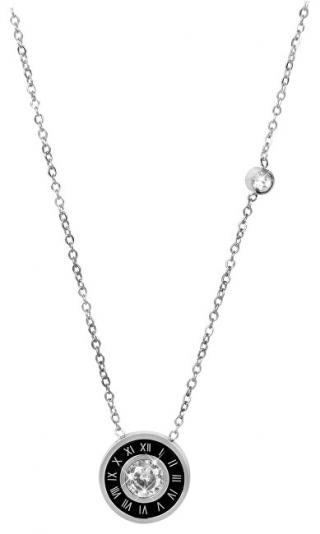 Troli Ocelový náhrdelník se stylovým třpytivým přívěskem