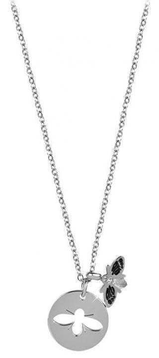 Troli Ocelový náhrdelník se včeličkou