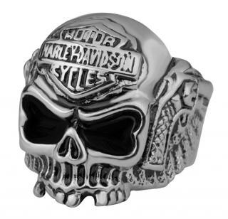 Troli Originální pánský prsten s lebkou 62 mm pánské
