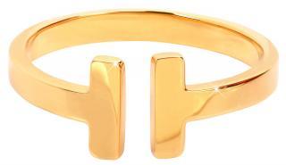 Troli Otevřený pozlacený prsten z oceli 54 mm dámské