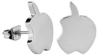 Troli Peckové ocelové náušnice Nakousnuté jablko dámské