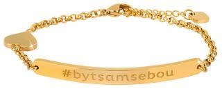 Troli Pozlacený ocelový náramek #bytsamsebou  dámské