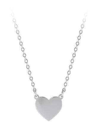 Troli Romantický ocelový náhrdelník se srdíčkem