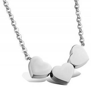 Troli Romantický ocelový náhrdelník se srdíčky
