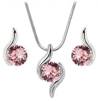 Troli Sada náhrdelníku a náušnic Chaton Wave Light Rose dámské
