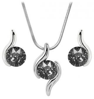 Troli Sada náhrdelníku a náušnic Chaton Wave Silver Night dámské