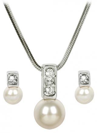 Troli Sada náhrdelníku a náušnic Pearl Caorle Cream dámské