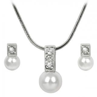 Troli Sada náhrdelníku a náušnic Pearl Caorle White dámské