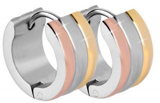Troli Tricolor ocelové náušnice kroužky dámské
