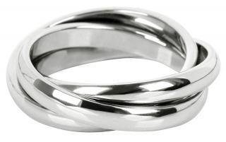Troli Trojitý ocelový prsten KRS-247 49 mm dámské