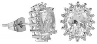 Troli Třpytivé náušnice s čirými krystaly dámské