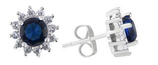 Troli Třpytivé náušnice s krystaly dámské