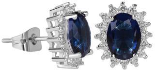 Troli Třpytivé náušnice s modrými krystaly dámské
