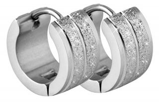 Troli Třpytivé ocelové náušnice kroužky dámské