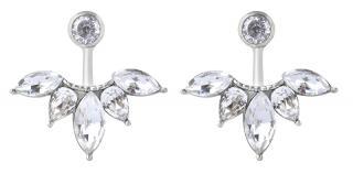 Troli Třpytivé ocelové náušnice s krystaly dámské