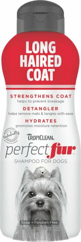 Tropiclean Perfect Fur Shampoo Šampon pro psy 473 ml Dlouhá srst