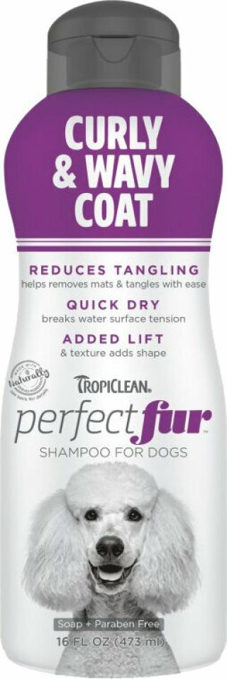 Tropiclean Perfect Fur Shampoo Šampon pro psy 473 ml Kudrnatá a vlnitá srst