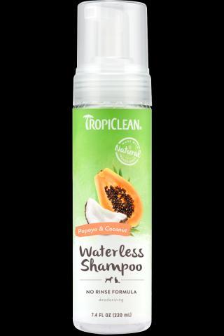 TropiClean šampón bezoplachový papája 220ml