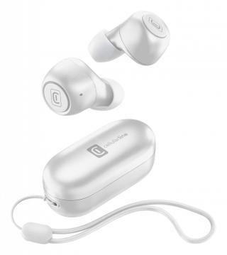 True Wireless sluchátka Cellularline Pick s dobíjecím pouzdrem, bílá