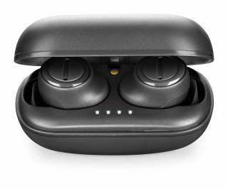 True wireless sluchátka Cellularline PLUME s dobíjecím pouzdrem, AQL® certifikace, černá