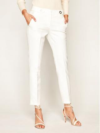 Trussardi Jeans Chino kalhoty Light Technical 56P00180 Bílá Slim Fit dámské 42