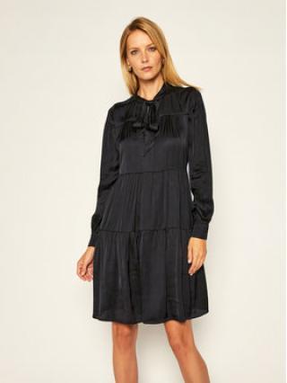 Trussardi Jeans Každodenní šaty Satin 56D00463 Černá Regular Fit dámské 38