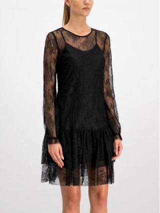 Trussardi Jeans Koktejlové šaty 56D00312 Černá Regular Fit dámské 42