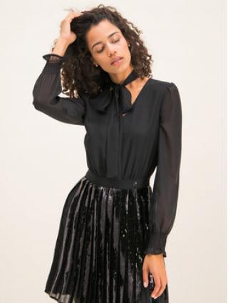 Trussardi Jeans Koktejlové šaty Georgette 56D00313 Černá Regular Fit dámské 38