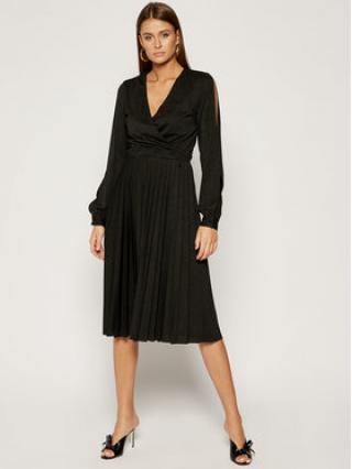 Trussardi Jeans Koktejlové šaty Lurex 56D00284 Černá Regular Fit dámské 40