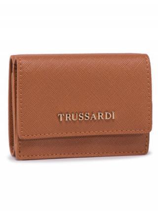 Trussardi Jeans Malá dámská peněženka Mosca Trfold Sm 75W00258 Černá 00